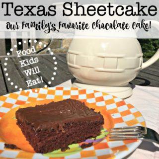 Texas Sheetcake- Our Family's Favorite Chocolate Cake!