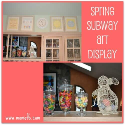 A great collection of free Spring subway art printables!
