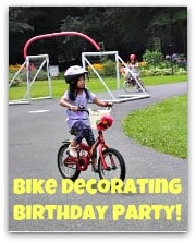 Great Idea for a 6 Year Old Birthday Party: A Bike Decorating Party!