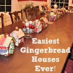 How to Make An Easy Gingerbread House!