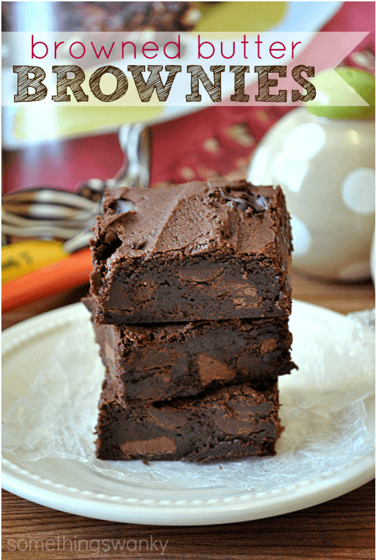 These browned butter brownies from Something Swanky sound amazing!