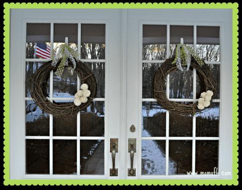 Winter Wreath Project- On the Door