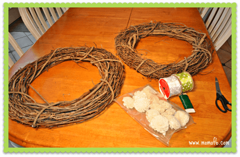 Winter Wreath Project- The Materials