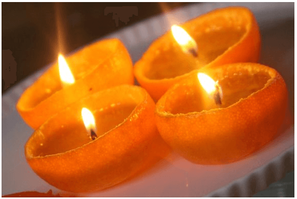 Clementine candles