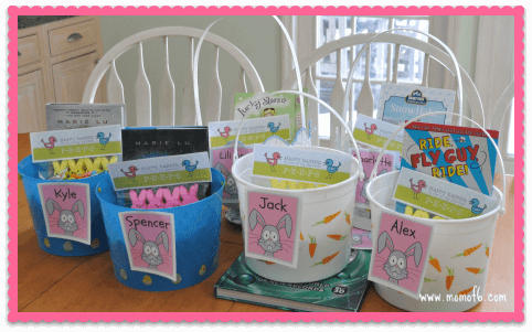 A tradition we always follow with our Easter baskets, is that the Easter Bunny hides them. He leaves a clue right where the kids will find it when they get up, and then that leads to more clues until they finally find their baskets. If you are looking for Easter basket ideas- then check out this post that includes a free Easter bunny clues printable!