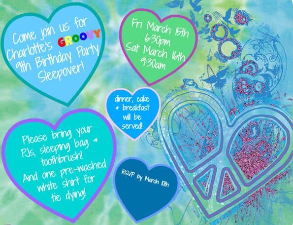 Tie Dye Birthday Invitations as best invitations example