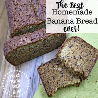 What's a Mom to do with a couple of brown spotty mushy bananas that no one wants to eat? Turn them into homemade banana bread, of course! Here's a great recipe to do just that!