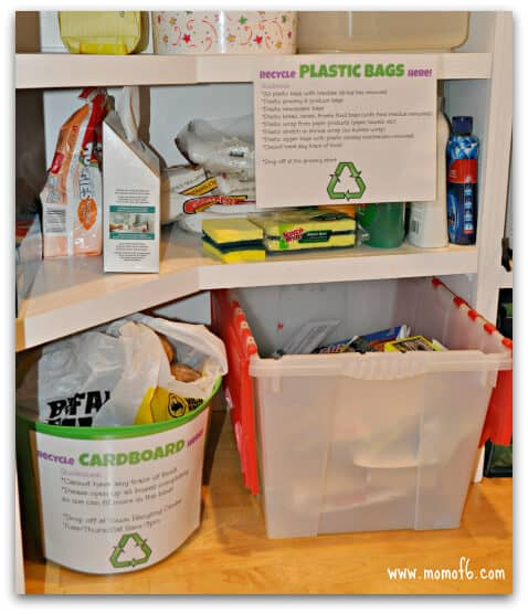 How to Organize Your Recycling {How to BE Organized!}