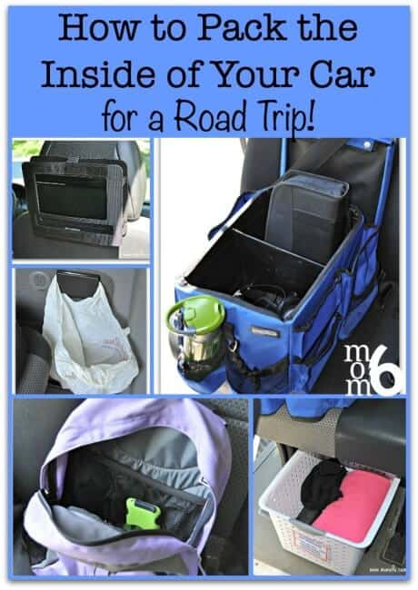 Heading out on the road this summer? Here is how to organize the inside of your car when packing for a road trip- from a Mom of 6 kids!