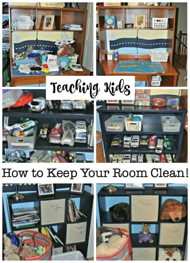 Teaching kids how to keep your room clean is really a lifelong skill that their future room mates and spouses will thank you for! So set aside a few hours- because you are going to need time to teach them these skills. And remember- you are also building a foundation for an organized adulthood!