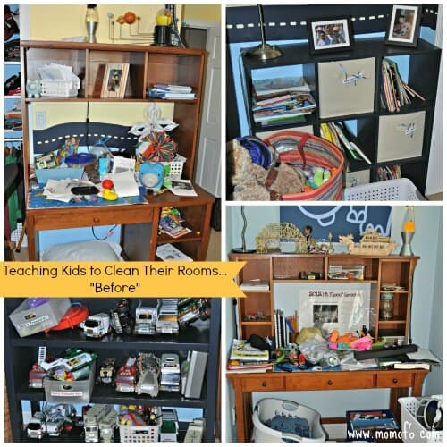 Teaching Kids to Clean Their Rooms- Before