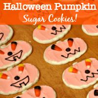 Halloween Pumpkin Cookies!