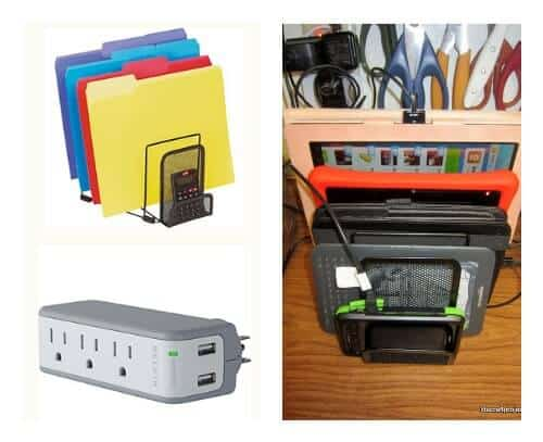 5 ideas for charging stations and wrangling cord clutter Charger cord organizer diy