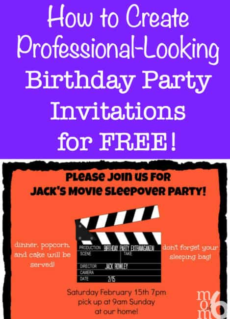 This is an awesome step-by-step tutorial that teaches you how to make professional-looking birthday party invitations for free! (Using PicMonkey)