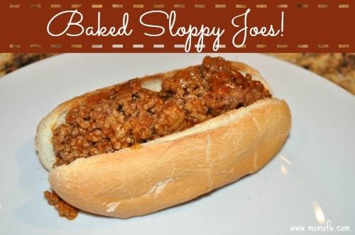 Baked Sloppy Joes {Menu Plan Monday}!