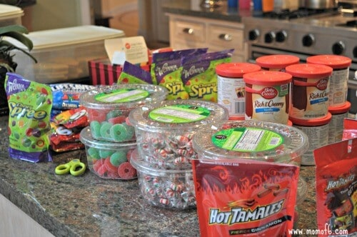 Gingerbread Wars Party- candy counter