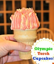 Olympic Torch Cupcakes!