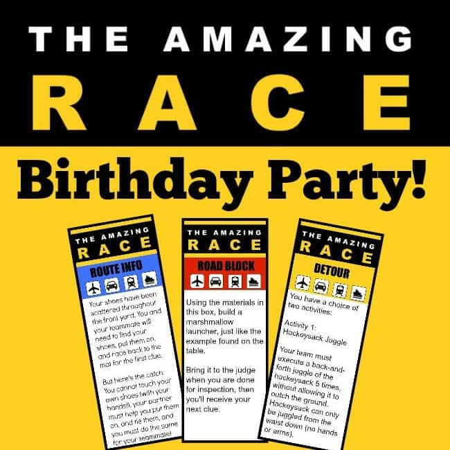 Great 11 Year Old Party Idea: The Amazing Race Birthday
