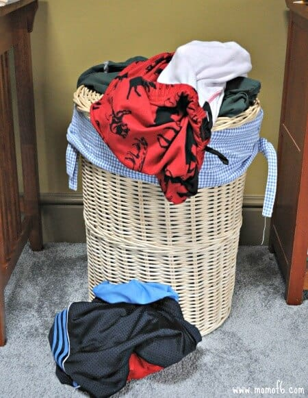 Simple solutions for dirty clothes momof6 - Hamper for dirty clothes ...