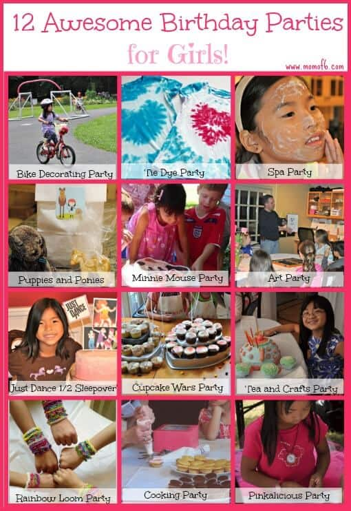 If you are looking for a fun at-home birthday party for your little princess... here are 12 Awesome Birthday Party Ideas for Girls!