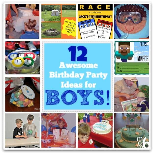 12 Awesome Birthday Party Ideas For Boys!
