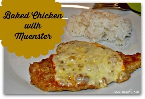 Baked Chicken with Muenster- on plate