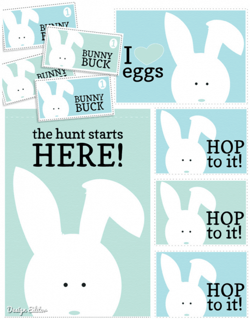 Hop To It printables