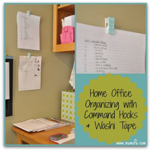 Organizing the Home Office with Washi Tape