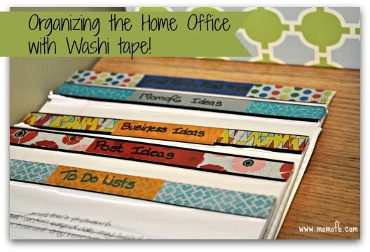 Organizing the Home Office with Washi Tape-main image