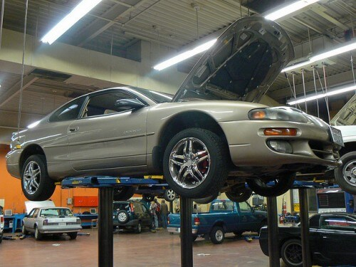 Car on Lift by Nick Ares