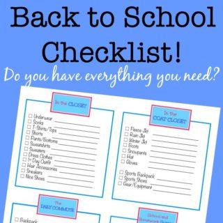 Back to School Checklist! {Free Printable}