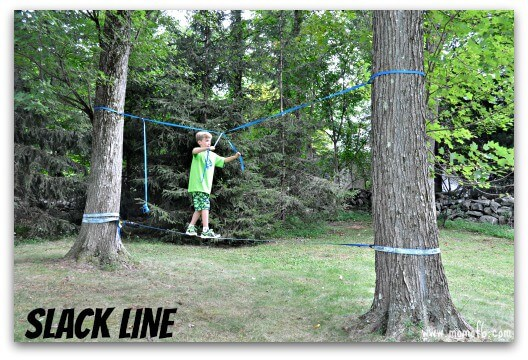 For his 11th birthday, my son wanted his own backyard American Ninja Warrior Birthday Party competition! So we set about constructing a course in our backyard that matches the American Ninja Warrior theme and challenges, at a level that kids can actually do. Here's how we did it: