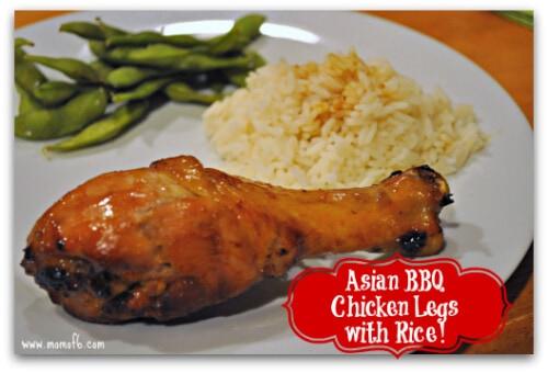Asian BBQ Chicken Legs & Rice Badge Lg