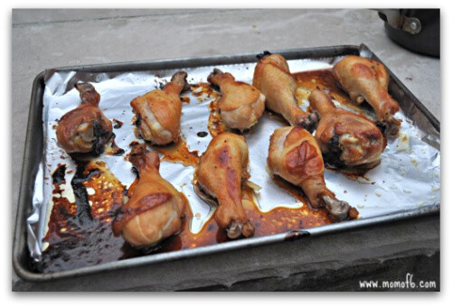 Asian BBQ Chicken Legs & Rice5