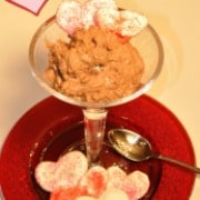 Valentine's Day Dessert: Chocolate Mousse with Heart Meringues!
