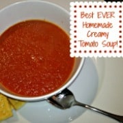 Are you obsessed with the creamy tomato soup at Panera Bread? Because this recipe for delicious homemade tomato soup is heaven in a bowl- and tastes exactly like Panera's!