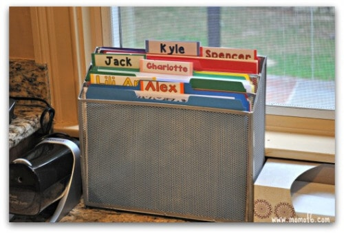 I re-worked our kitchen to make sure that we had a place for everything and a system to keep it organized. Here's how I created an organized homework space: