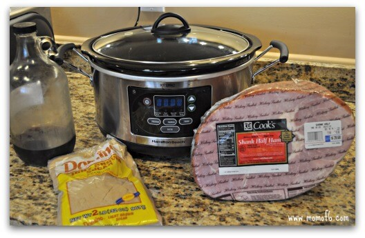 Can you make a baked ham in a crockpot? Well…. of course you can! Ham shouldn't only be served for family holidays- you can have it anytime!
