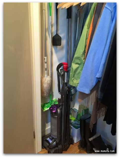 Coat Closet- cleaning supplies