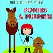 8 Year Old Girls Birthday Party Idea: Ponies and Puppies!