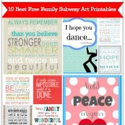 10 Best Free Family Subway Art Printables