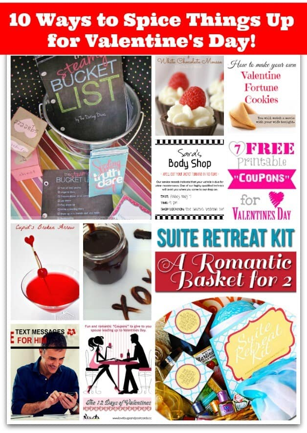 There's no need to run out to the store to buy something romantic for your main man for Valentine's Day- when there are so many great options to create a spicy evening for the two of you that you can create at home. Here are 10 creative (and interesting!) ways to spice things up for Valentines Day! (Or really- for any day at all!)