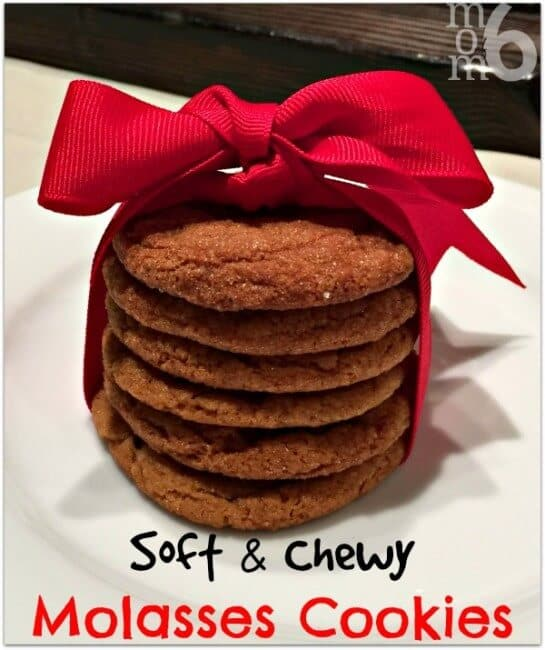 These soft and chewy molasses cookies have been a long time family favorite!