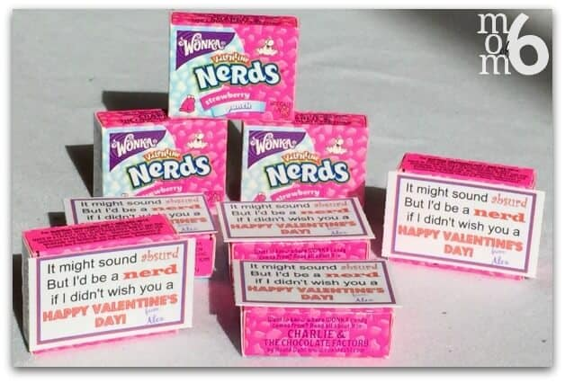 Valentine's for School- Nerds Boxes