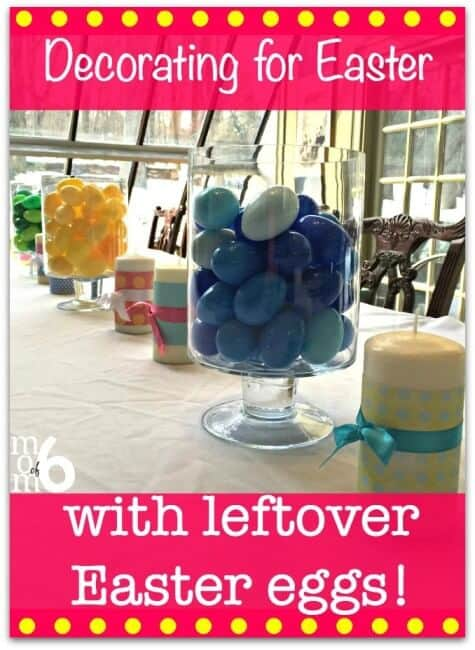Are you looking for some easter decor ideas? Do you have any leftover plastic Easter eggs? Why not use them for a little easter decoration DIY?