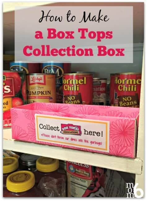How to Make a Box Tops Collection Box