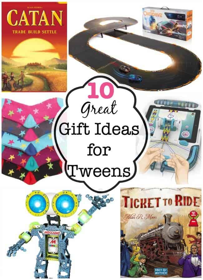 While my older kids now ask for $, my tweens are still hoping for a pile of brightly wrapped gifts under the tree! So based on what they are asking for, as well as some of the items they received earlier this year as birthday gifts- here are my top 10 picks for great gift ideas for tweens this year!