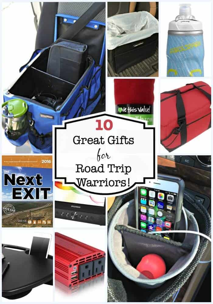 """No matter what makes you a card carrying member of the """"road trip warrior"""" club- you know how important it is to have an organized car, and one that is set up to entertain the kids while you are on the go. Here are 10 items that make great gifts for families to take along on road trips!"""