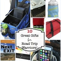 "No matter what makes you a card carrying member of the ""road trip warrior"" club- you know how important it is to have an organized car, and one that is set up to entertain the kids while you are on the go. Here are 10 items that make great gifts for families to take along on road trips!"