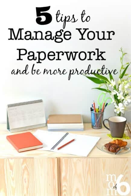 Having a way to deal with and organize the deluge of paperwork that comes into your home will prevent paper from cluttering your mind and your home. Here's how to manage paperwork and be more productive in 2016!